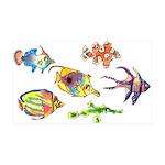 Six Cute Fish 35x21 Wall Decal