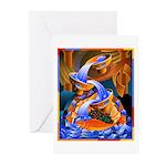 'Fish Ladder' Greeting Cards (Pk of 10)