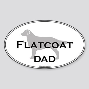 Flat-Coated Retriever DAD Oval Sticker