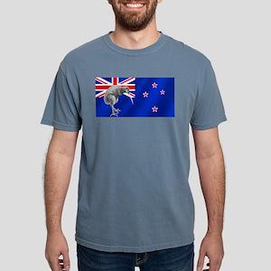New Zealand Kiwi Flag Mens Comfort Colors Shirt