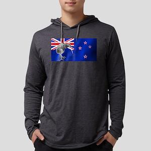 New Zealand Kiwi Flag Mens Hooded Shirt