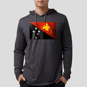 Papua New Guinea Flag Mens Hooded Shirt