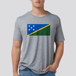 Solomon Islands Flag Mens Tri-blend T-Shirt