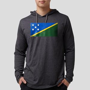 Solomon Islands Flag Mens Hooded Shirt