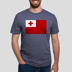 Flag of Tonga Mens Tri-blend T-Shirt