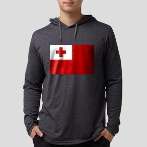 Flag of Tonga Mens Hooded Shirt