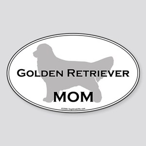 Golden Retriever MOM Oval Sticker