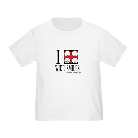 I heart wide smiles Toddler T-Shirt