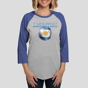 Argentina Soccer Ball Womens Baseball Tee