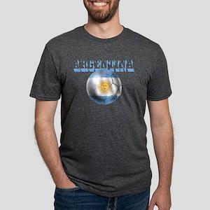 Argentina Soccer Ball Mens Tri-blend T-Shirt