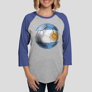 Argentina Football Womens Baseball Tee