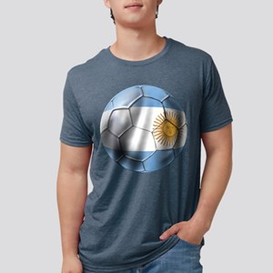 Argentina Football Mens Tri-blend T-Shirt