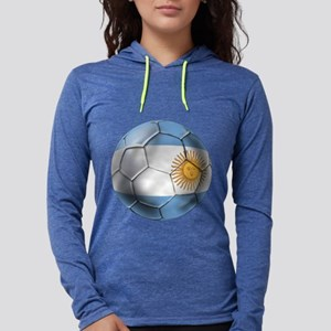 Argentina Football Womens Hooded Shirt