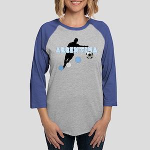 Argentina Soccer Player Womens Baseball Tee