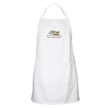 Video Poker BBQ Apron