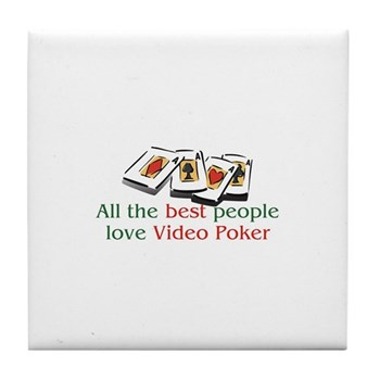 Video Poker Tile Coaster