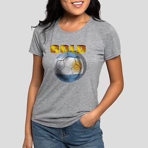 Argentina Soccer Gold Womens Tri-blend T-Shirt