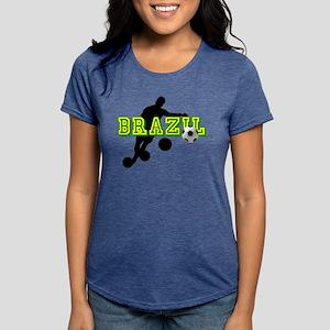 Brazil Soccer Player Womens Tri-blend T-Shirt