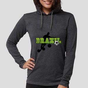 Brazil Soccer Player Womens Hooded Shirt