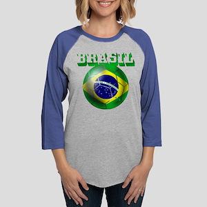 Brasil Football Womens Baseball Tee