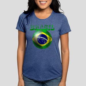 Brasil Football Womens Tri-blend T-Shirt