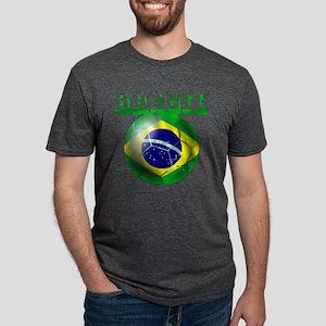 Brasil Football Mens Tri-blend T-Shirt