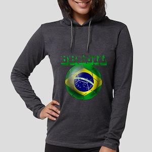 Brasil Football Womens Hooded Shirt