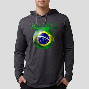 Brasil Football Mens Hooded Shirt