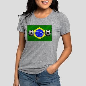 Brazilian Soccer Flag Womens Tri-blend T-Shirt