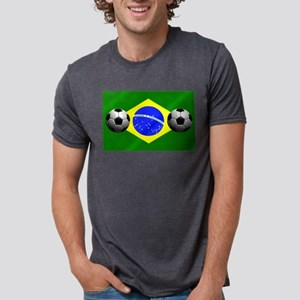 Brazilian Soccer Flag Mens Tri-blend T-Shirt