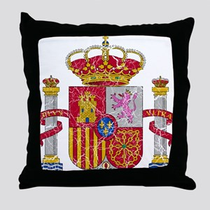 Spain Coat Of Arms Throw Pillow