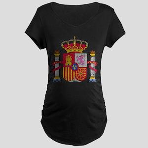 Spain Coat Of Arms Maternity Dark T-Shirt