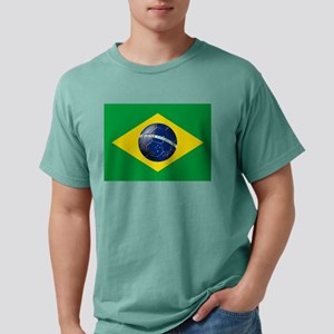 Flag of Brazil Mens Comfort Colors Shirt