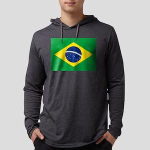 Flag of Brazil Mens Hooded Shirt
