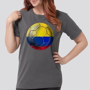 Colombia Soccer Ball Womens Comfort Colors Shirt