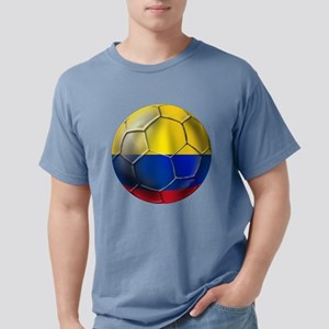 Colombia Soccer Ball Mens Comfort Colors Shirt