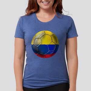 Colombia Soccer Ball Womens Tri-blend T-Shirt