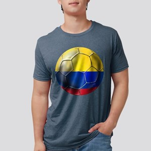 Colombia Soccer Ball Mens Tri-blend T-Shirt