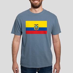 Flag of Ecuador Mens Comfort Colors Shirt