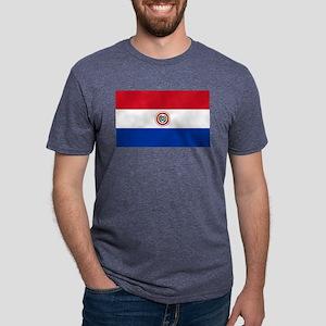Flag of Paraguay Mens Tri-blend T-Shirt