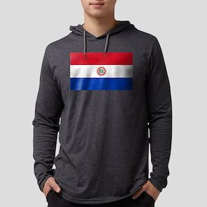 Flag of Paraguay Mens Hooded Shirt