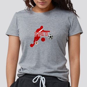 Peru Football Player Womens Tri-blend T-Shirt