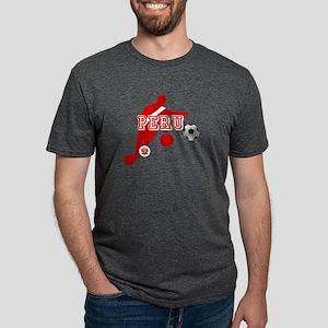 Peru Football Player Mens Tri-blend T-Shirt