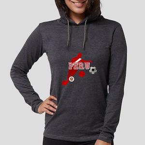 Peru Football Player Womens Hooded Shirt