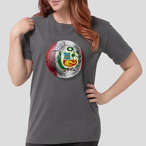 Peru Soccer Ball Womens Comfort Colors Shirt