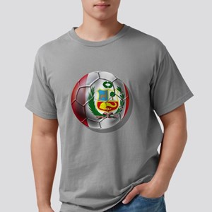 Peru Soccer Ball Mens Comfort Colors Shirt