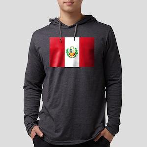 Flag of Peru Mens Hooded Shirt