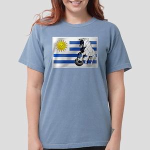 Uruguay Soccer Flag Womens Comfort Colors Shirt