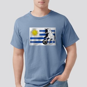 Uruguay Soccer Flag Mens Comfort Colors Shirt