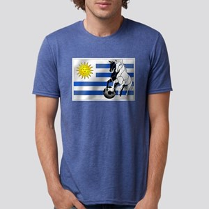 Uruguay Soccer Flag Mens Tri-blend T-Shirt